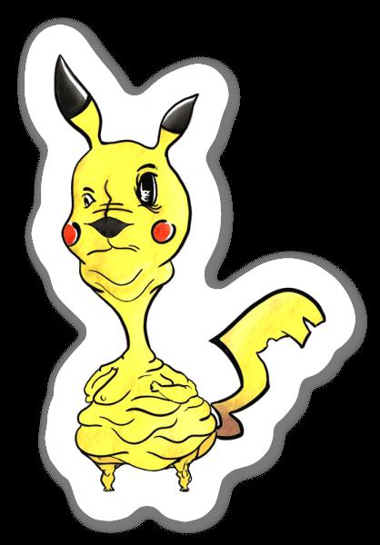 Fat Pikachu pegatina