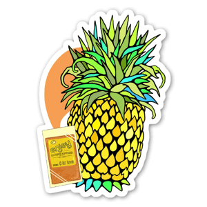 Li Hing Mui Pineapple sticker