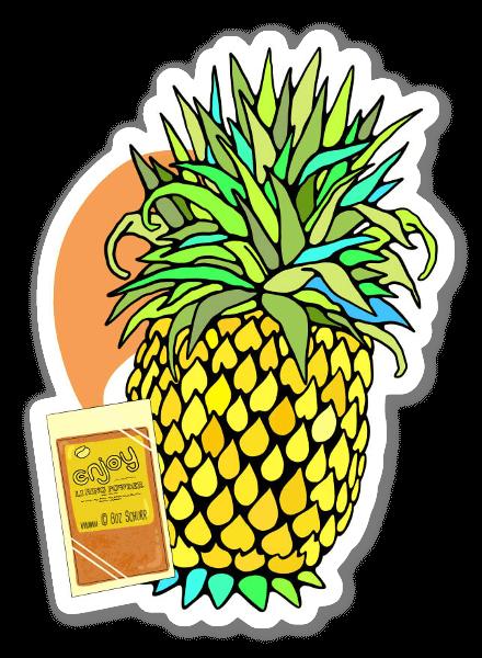 Li Hing Mui Pineapple  sticker