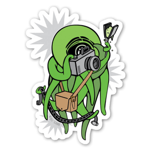 Green Photography Squid sticker