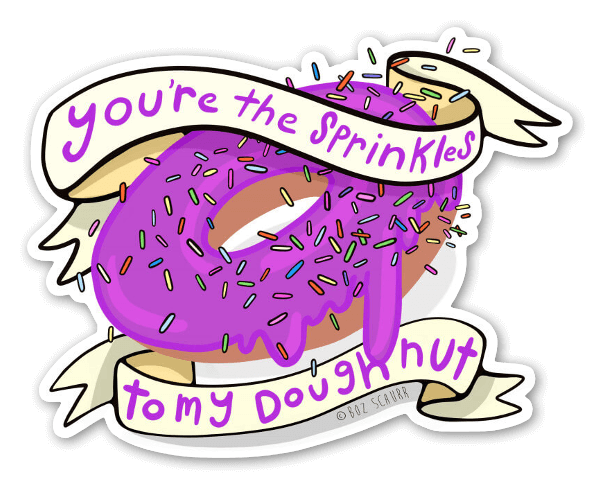 Donut I Know You? Sticker