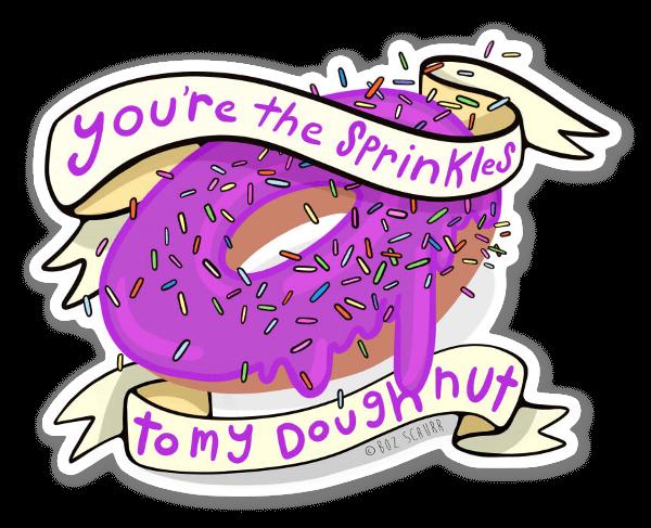 Donut i know you sticker