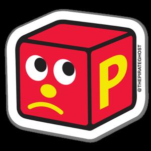 P BLOCKHEAD sticker