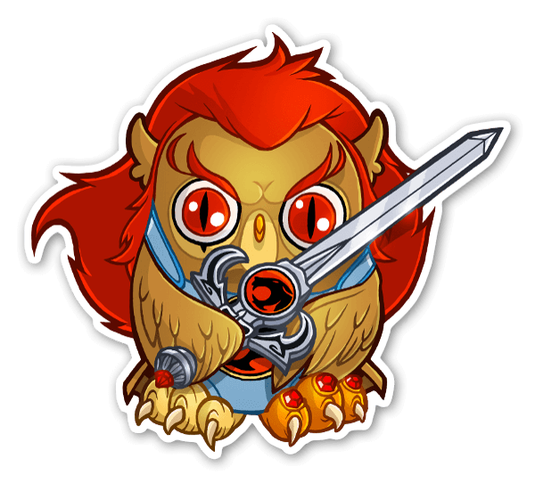 Lion owl sticker