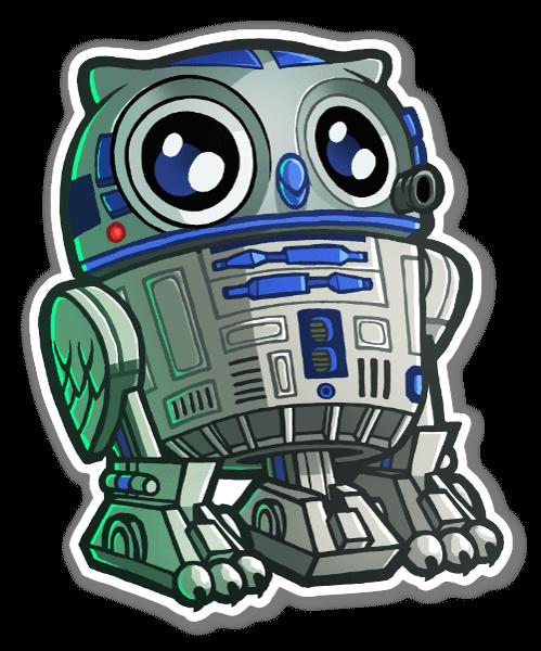 R2hoo d2hoo sticker