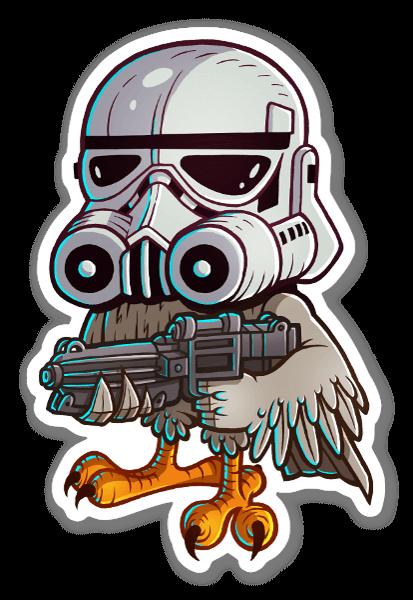 Stormtrhoo hoo sticker