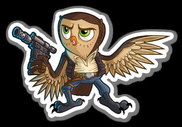 Han Sol-OWL pegatina