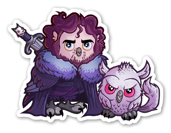 Jon sn owl sticker