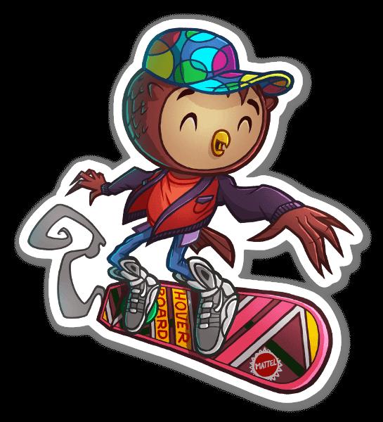 Mich-OWL J. Fox as marty mcfly  sticker