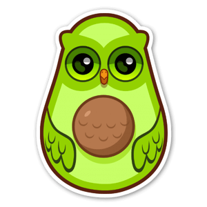 Avocad-OWL sticker