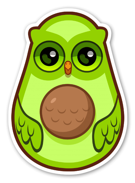 AvocadOWL pegatina