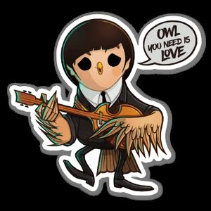 Beat-OWL paul sticker