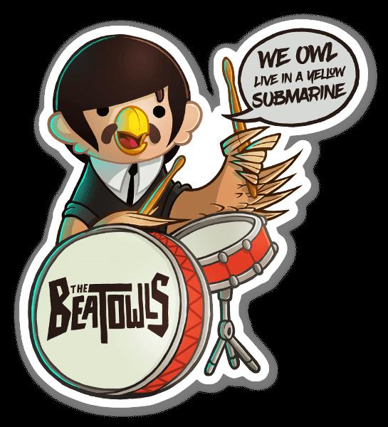 Beat-OWL Ringo  sticker