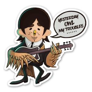 Beat-OWL George sticker