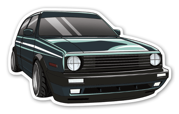 Dylan gray golf mk2 sticker