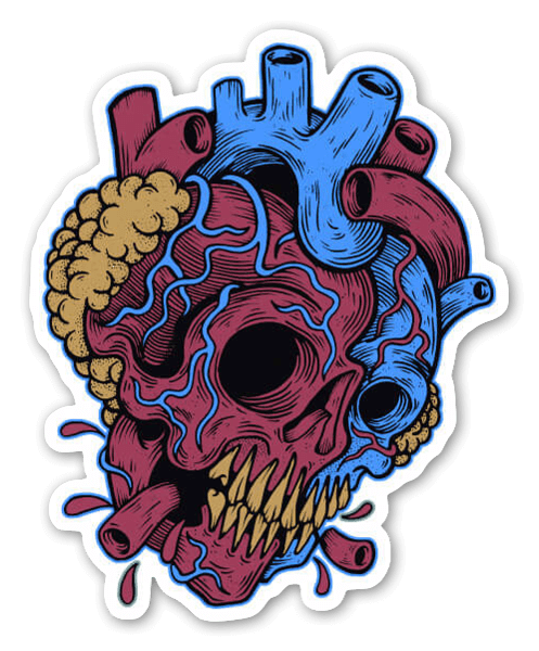 Skullheart sticker