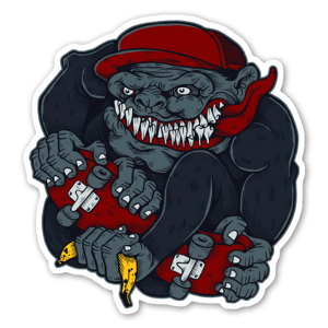 Skate Gorilla Sticker