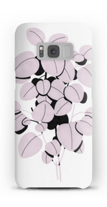 Pink Leaves case Galaxy S8