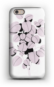 Pink Leaves case IPhone 6s tough