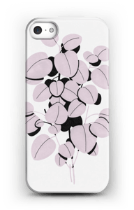 Pink Leaves case IPhone SE