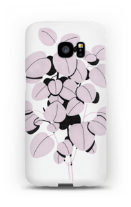 Pink Leaves case Galaxy S7 Edge