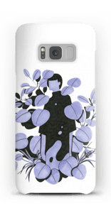 Leaves in purple - blue case Galaxy S8