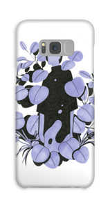 Leaves in purple - blue case Galaxy S8 Plus