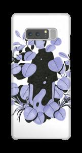 Purple - blue Leaves case Galaxy Note8