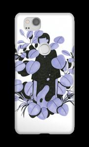 Leaves in purple - blue case Pixel 2