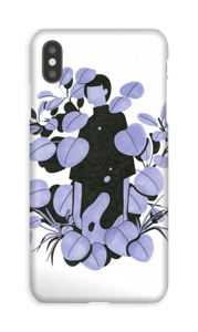 Feuilles bleues Coque  IPhone XS Max