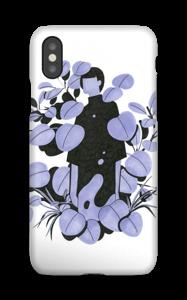 Blå blader deksel IPhone XS