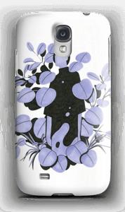 Blå blader deksel Galaxy S4