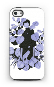 Leaves in purple - blue case IPhone 5/5s tough