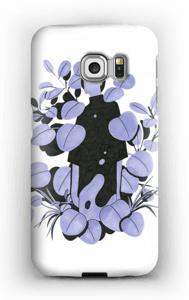 Leaves in purple - blue case Galaxy S6 Edge