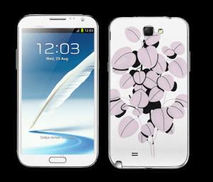 Rosa blad Skin Galaxy Note 2