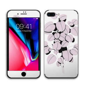 Rosa blad Skin IPhone 8 Plus