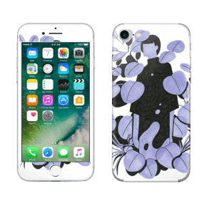 Blålilla blad Skin IPhone 7