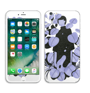 Blålilla blad Skin IPhone 6 Plus