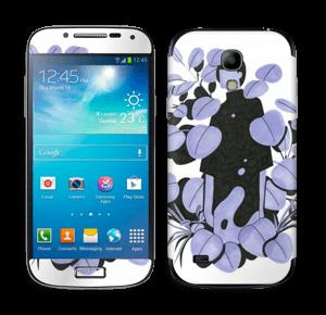 Blålilla blad Skin Galaxy S4 Mini
