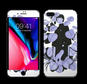 Blålilla blad Skin IPhone 8 Plus
