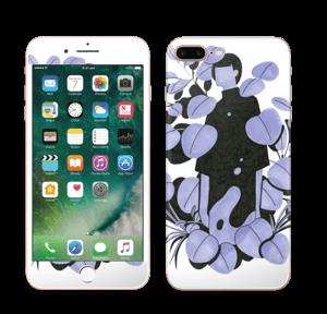 Blålilla blad Skin IPhone 7 Plus