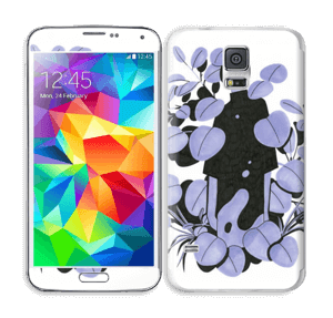 Blålilla blad Skin Galaxy S5