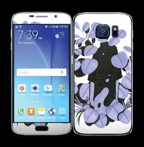 Blålilla blad Skin Galaxy S6