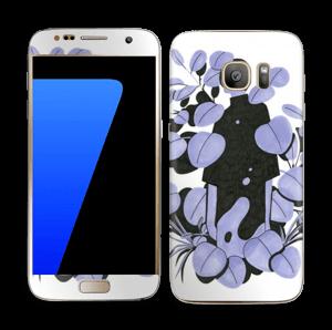 Blålilla blad Skin Galaxy S7