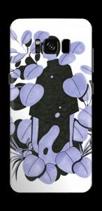 Blålilla blad Skin Galaxy S8