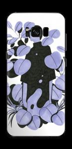 Blålilla blad Skin Galaxy S8 Plus