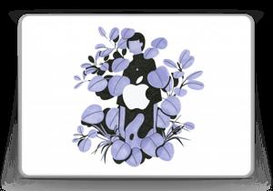 "Blålilla blad Skin MacBook Pro 13"" -2015"