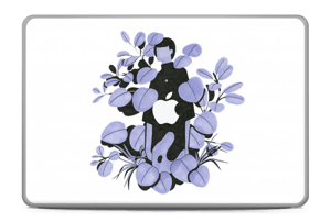 "Blålilla blad Skin MacBook Pro 17"" -2015"