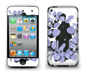 Blålilla blad Skin IPod Touch 4th Gen