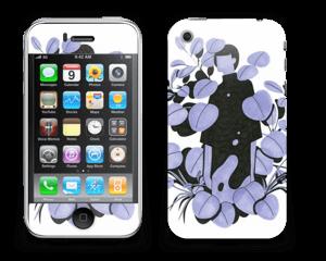 Blålilla blad Skin IPhone 3G/3GS